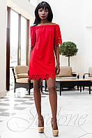 Модное красное платье-туника Кения Jadone Fashion 42-50 размеры