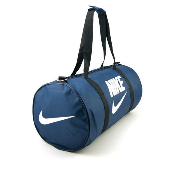 Спортивная сумка Nike | синяя | вид сбоку
