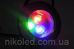 Светодиодный подводный прожектор LED 1803 RGB без контр