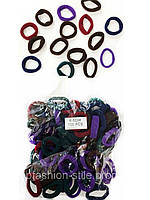 Резинки для волос цветные, 100шт. в упаковке