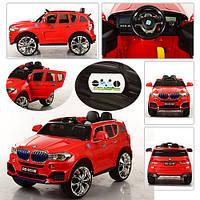 Детский электромобиль джип BMW X5 M 2762 (MP4) EBR- 3, красный