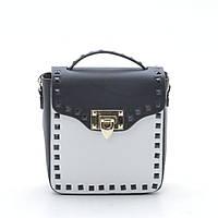 Женская сумка клатч черная белая