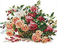 Набор для вышивания крестиком Букет из роз 50х42 см (арт. MK045)