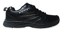 Мужские кроссовки Bona кожаные, черные Р. 45 46