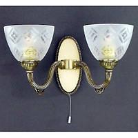 Бра RECCAGNI ANGELO A 6255/2 бронза/стекло