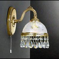 Бра RECCAGNI ANGELO A 6300/1 золото/стекло/хрусталь