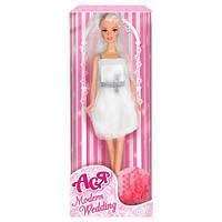 """Кукла Ася шарнирная """"Модная свадьба"""", 28 см, блондинка, вариант 1, в кор. 32*8*5см"""