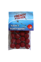 Бойлы тонущие Frenzy Fisher клубника (пакет)