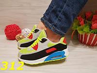 Кроссовки женские реплика Nike Air Maх аирмакс салатовые
