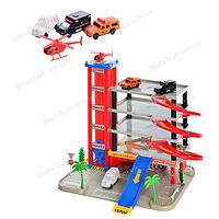 Большой игрушечный паркинг с автосервисом и лифтом