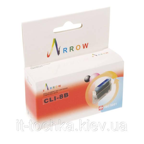 Картридж струйный arrow для canon pixma ip4200/ip4500/ip6600 cli-8b black (cli8bk)