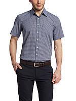 Мужская рубашка LC Waikiki с коротким рукавом серо-белого цвета, фото 1