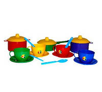 Набор детской посуды Маринка 1 ТехноК 0687 для девочки