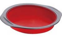 Круглая силиконовая форма peterhof ph-12852-rd для выпекания красная