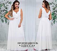 Платье в пол батал 08667