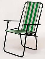 Складной садовый стул, дачный стул складной (Зелено-белый)