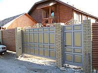 Ворота откатные филенчатые
