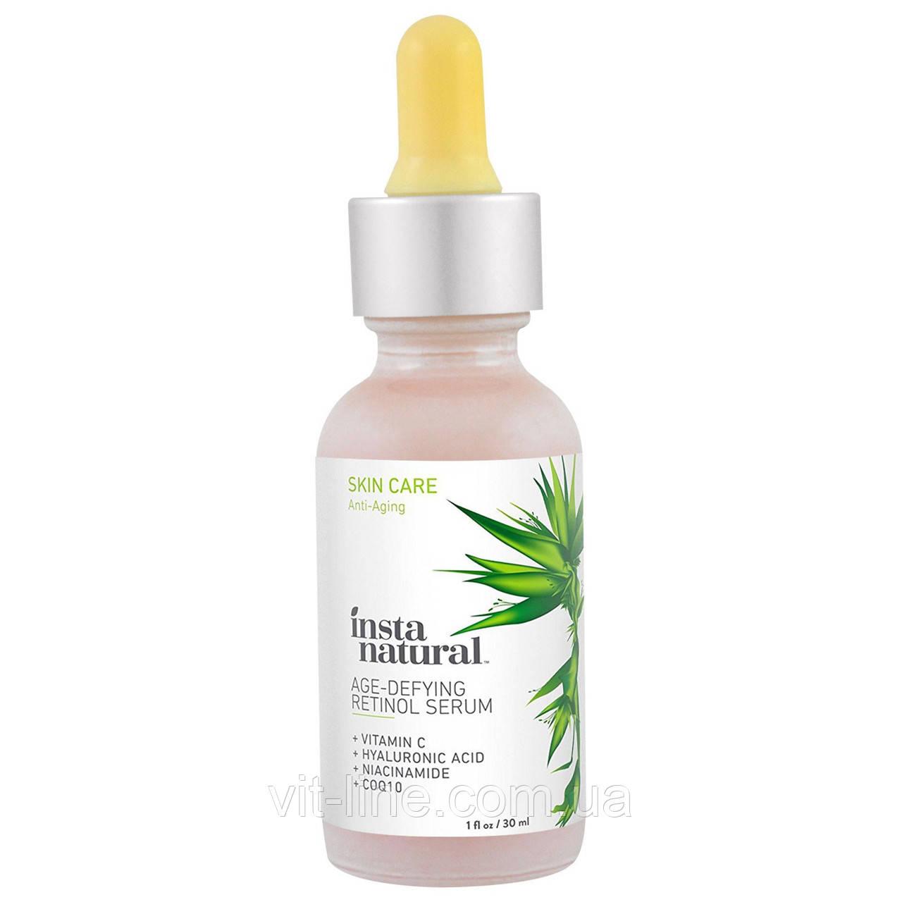 InstaNatural, Retinol Serum Сыворотка с витамином С и гиалуроновой кислотой +CoQ10 (30 ml)