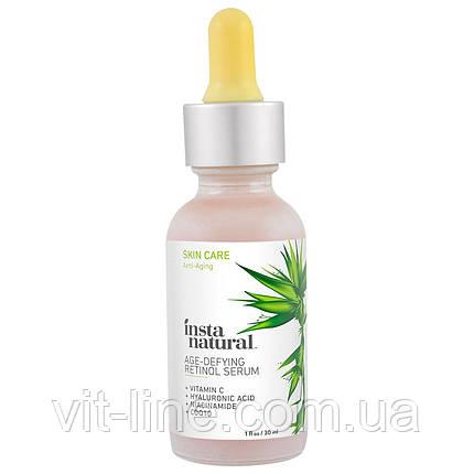 InstaNatural, Retinol Serum Сыворотка с витамином С и гиалуроновой кислотой +CoQ10 (30 ml), фото 2