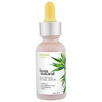 InstaNatural Ретинол Витамин А Сыворотка с гиалуроновой кислотой + Витамин С  + CoQ10 Омолаживающая (30 мл)