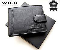 Кожаный кошелек Always Wild. Бумажник кожаный мужской. Кожаные портмоне.