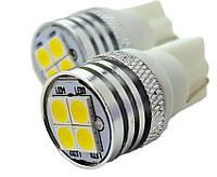 Светодиодные лампы LED W5W 4-SMD (Белый)(3030)