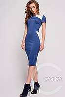 Синее трикотажное платье для женщин 5495