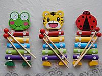 Музыкальный ксилофон деревянный детский , фото 1