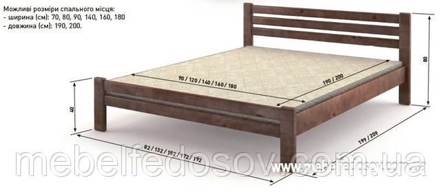Кровать палермо мебигранд размер