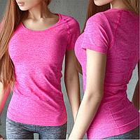 Спортивная женская футболка Pink, фото 1