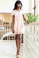 Женское кремовое платье-туника Ригана  Jadone Fashion 42-50 размеры