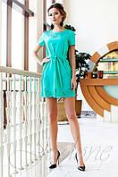 Женское бирюзовое платье-туника Ригана  Jadone Fashion 42-50 размеры