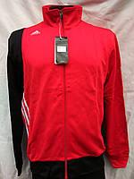 Спортивный костюм мужской из эластика Adidas красно-черный