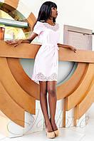 Женское белое платье-туника Ригана  Jadone Fashion 42-50 размеры