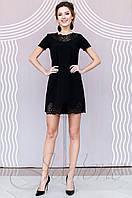 Женское черное платье-туника Ригана  Jadone Fashion 42-50 размеры