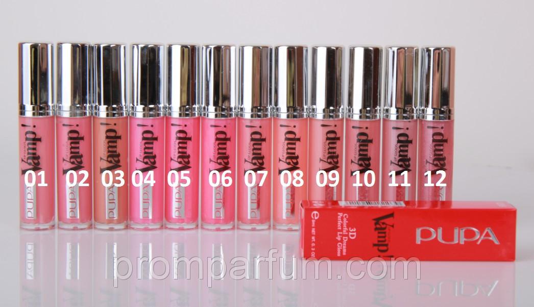 Блеск для губ Pupa lip gloos Vamp 8 ml, SET-A MUS 0289 /50-1