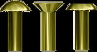 Заклепки латунные ГОСТ 10299-80, ГОСТ 10300-80, ГОСТ 10303-80 под молоток.