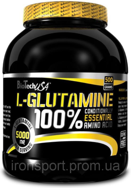 Аминокислоты 100% L-Glutamine (500 г) BioTech USA