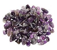 Камни натуральные для декора Аметист (5-12 мм) 100 грамм