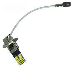 Светодиодная лампа H3 LED (цена за 1 шт)ходовые огни в противотуманки H3 24 SMD 4014 12V, лампа для птф 3Вт