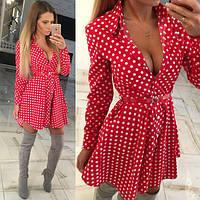 Платье летнее короткое , ткань хлопок Турция , 2 расцветки ,хорошее качество ,с поясом втет №5003