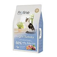 Profine Light Turkey Сухой корм с индейкой для котов и кошек с избыточным весом, 10кг