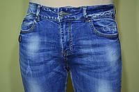 Джинсы женские, потертые с декоративной рванкой, приуженные, укороченные с подворотом,  размеры 28-33.