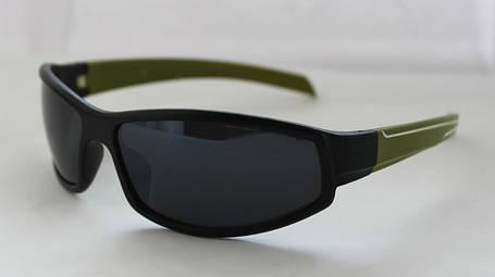 Оригинальные вело солнцезащитные очки для мужчин с зелеными дужками, фото 2