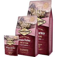 Carnilove Salmon and Turkey for Kittens полнорационный беззерновой корм с лососем и индейкой для котят, 6кг