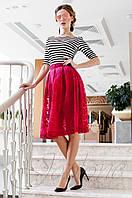 Красивый модный комплект Малибу красный Jadone Fashion 42-50 размеры