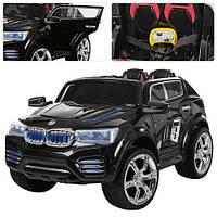 Детский электромобиль джип BMW X6 NEW Bambi M 2392 EBR на р/у, EVA колеса, черный