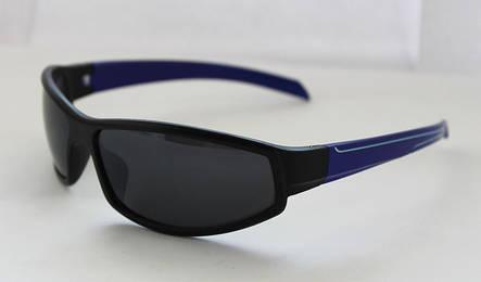 Оригинальные вело солнцезащитные очки для мужчин с синими дужками, фото 2