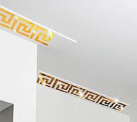 """Наклейка на стену, акриловые наклейки, украшения стены наклейки """"зеркальный орнамент золото 10шт набор 7,5*8см"""