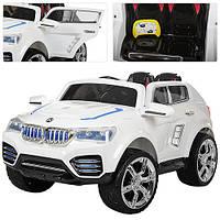 Детский электромобиль джип BMW X6 NEW Bambi M 2392 EBR-1 на р/у, EVA колеса, белый
